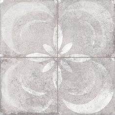 Urban Decorative Concrete Flower 45.2 x 45.2cm From Baked Tiles