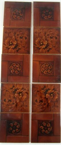 Antique Aesthetic Movement Fireplace Tiles - ebay