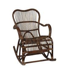 Dark Rattan Rocking Chair from Affari of Sweden
