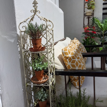 Artificial herb pots from Annie Thompson Flowers on Etsy
