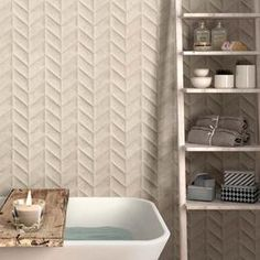 Textured tiles add depth and interest