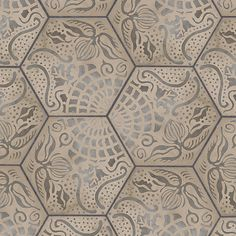 Casablanca Mono Decor Hexagon Porcelain. From Mandarin Stone.