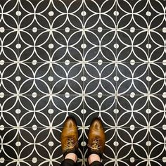 Bloom Encaustic Cement Tile. From Otto Tiles.