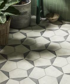 Casablanca Mono Decor 11/12 Hexagon Porcelain - Mandarin Stone